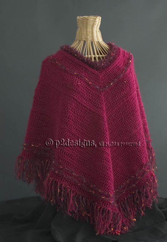Crochet Patterns For Ponchos : Ponchos - Crochet Poncho Patterns AllFreeCrochet.com